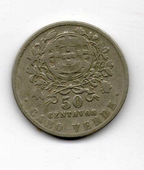Cabo Verde Colonia Moneda 50 Centavos 1930 Km#4 - Argentvs