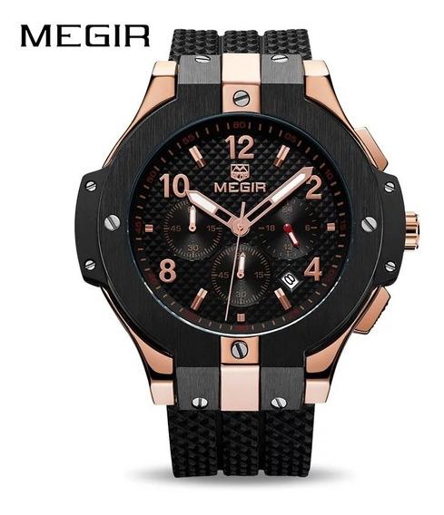 Relógio Megir 2050 Original 30m Rosé/preto