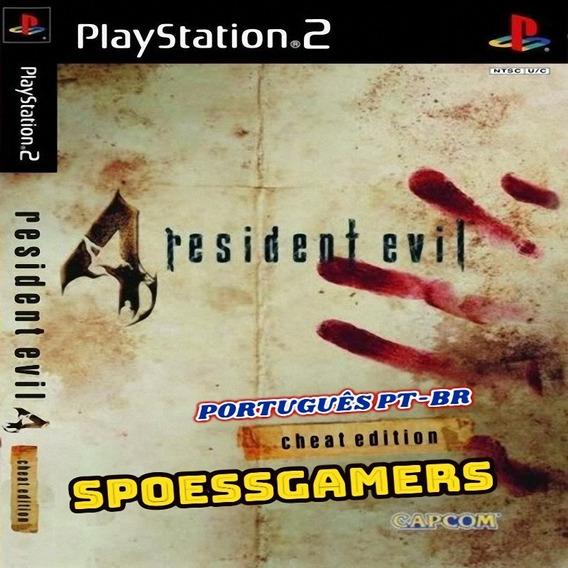 Resident Evil 4 Português Com Códigos Ps2 Desbloqueado Patch