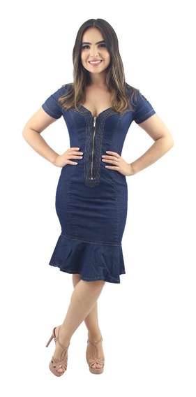 Vestido Jeans De Zíper Na Frente Anagrom Ref.5004