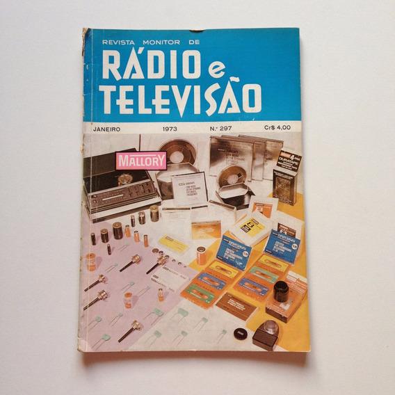 Revista Monitor De Rádio E Televisão 297 Janeiro 1973