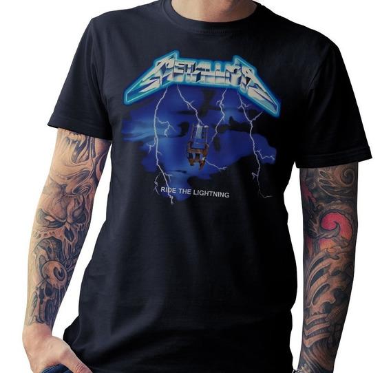 Remera Metallica, Algodon Premium (mujer-hombre)