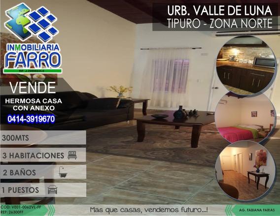 Venta De Casa Con Anexo En Tipuro Ve01-0062vl-ff