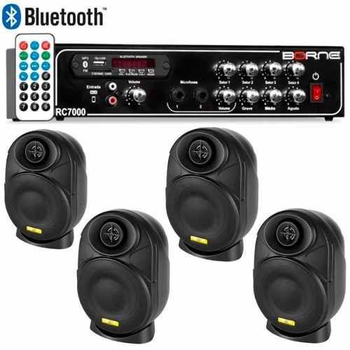 Kit Som Ambiente Borne Rc7000 Usb Fm + 4 Elips Ll Audio
