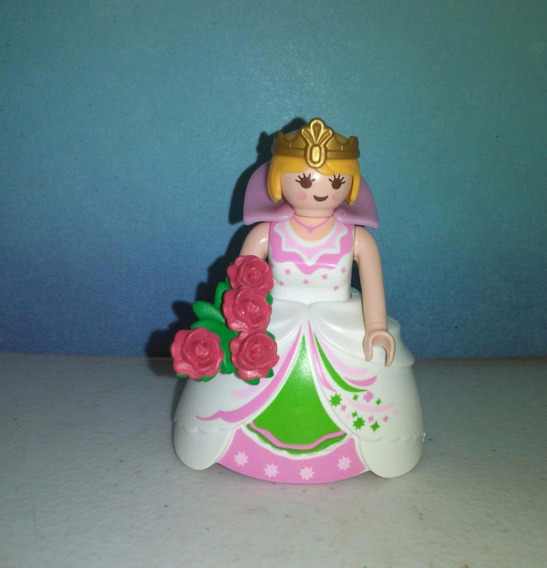 Playmobil Reyna O Dama Magic Vestido De Gala Blanco Rosa B