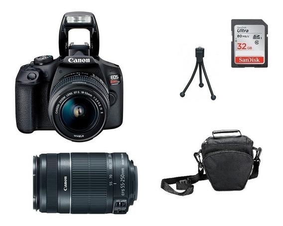 Kit Canon T7 Premium 18-55mm + 55-250mm Garantia Novo
