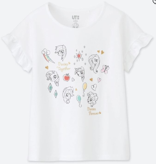 Playera Uniqlo Niña Estampado My Little Pony