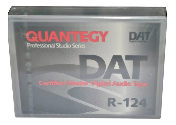Fita Dat Quantegy Dat-r124p Digital Audio Tape Gravador Dat