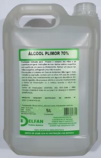 Álcool Líquido Antisséptico 70% 5 Litros Proteção Limpeza