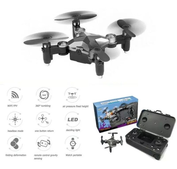 Mini Drone Quadcoptero, Dobrável, Wi-fi, 480p Hd.