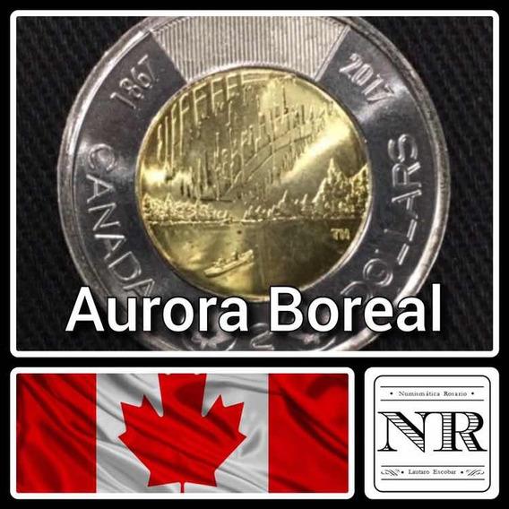 Canada - 2 Dolares - Año 2017 - Aurora Boreal - Moneda