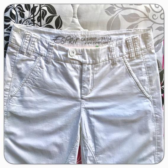 Pantalón Blanco Marca Esprit De Dama Original