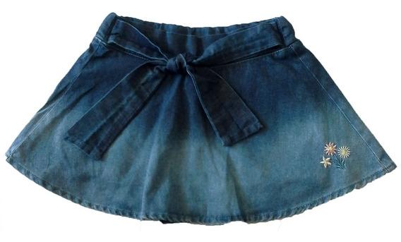 Saia Shorts Jeans Menina Infantil Tam. P Ao 03 - Ref. 1258