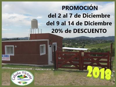 Cabaña 4 Y 5 Pers A 7km D Carlos Paz Promo Diciembre 20% Off