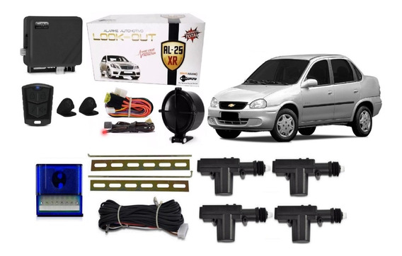 Kit Trava Eletrica + Alarme Corsa Wind Hatch Classic 4 Porta
