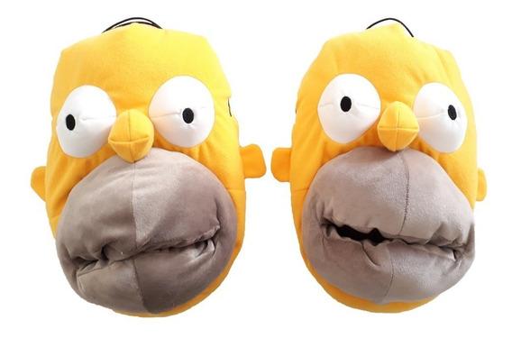Pantufla Homero Simpson Importada Original Niño Adulto 34-44
