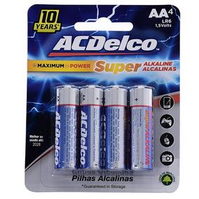 Pilhas Alcalinas Ac Delco Aa 4un