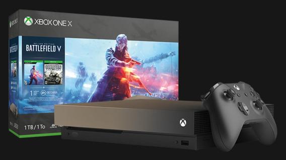 Xbox One X Battlefield V. Lacrado Com Nota Fiscal E Garantia