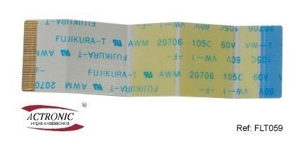 Flat Cable 40 Vias 7,5cm 0,5mm Invertido- Kit 2 Pçs