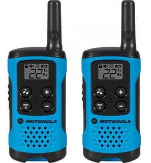 Rádio Comunicador Talkabout 25km T100br Azul Motorola - Par