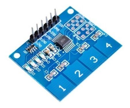 Teclado Módulo Sensor Touch Capacitivo 4 Vias Ttp224