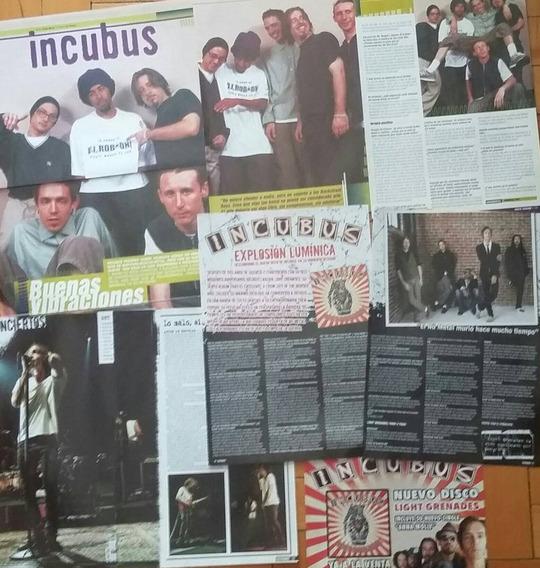 Incubus - Lote De Artículos Y Posters - Imperdible