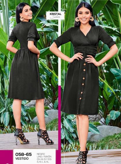 Vestido Negro 058-65 Cklass Primavera-verano 2020