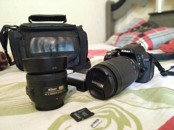 Kit Nikon D5300 Com Lente Nikkor 35mm E 300mm