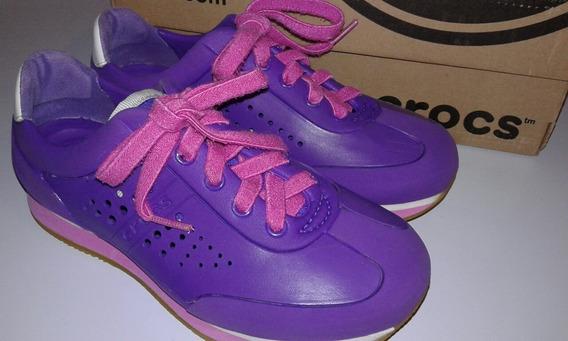 Zapatos Deportivos Niña Crocs Talla 31-32 16 V E R D E S
