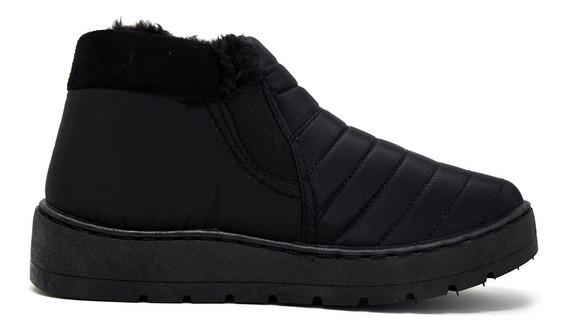 Zapatos Dama Estilo Bota Corta Invernal 16385 Negro Furor
