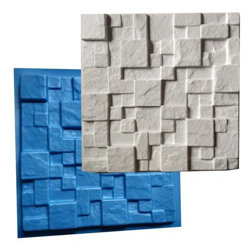 Forma Mosaico Borracha E Plástico Placa Gesso - Lindissímo