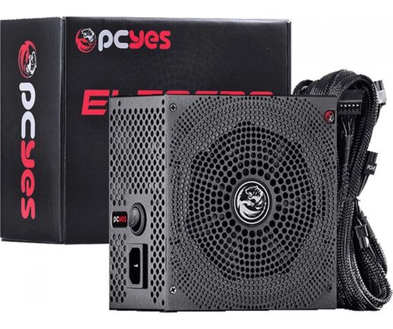 Fonte Gamer Pcyes Electro V2 600w 80 Plus White Pfc Ativo