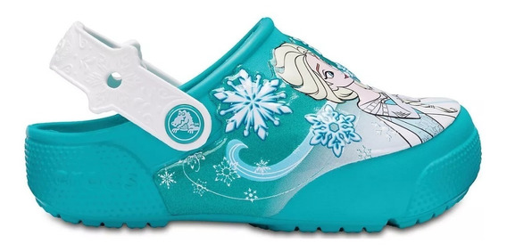 Crocs Nena Frozen Lights Originales Disney Luces
