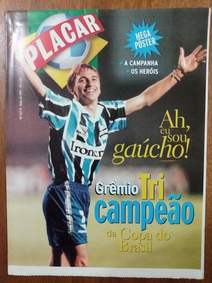 Revista Placar Grêmio Tri Campeão Da Copa Do Brasil Pôster