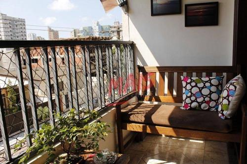Imagem 1 de 30 de Apartamento Com 4 Dormitórios À Venda, 180 M² Por R$ 780.000,00 - Ponta Da Praia - Santos/sp - Ap0716