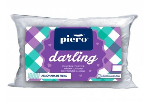 Almohada Piero Darling 70x40cm Fibra Antialergica Lavable