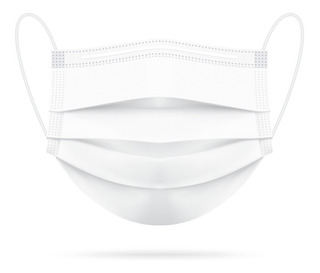Máscara Descartável Tripla Camada Com Clip Nasal Kit Com 20