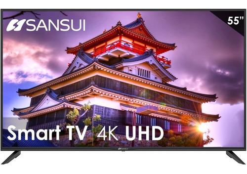 Imagen 1 de 6 de Pantalla Smart Tv 55 Pulgadas Sansui Dled Uhd 4k Android 9.0
