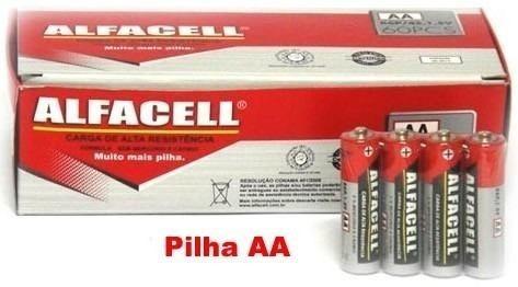 Kit 120 Un Pilha Alfacell (60 Aaa + Aa 60)