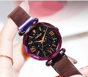 Relógio Feminino Luxo Fecho Magnético Prova D