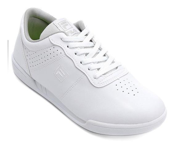 Tênis Feminino Fila F16low Comfort Camurça Branco Original