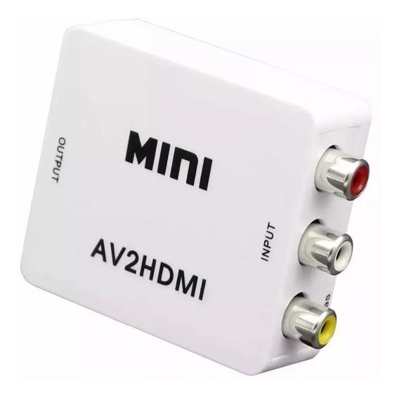 Conversor De Rca A Hdmi 1080p P/consola/smart Tv [av2hdmi]