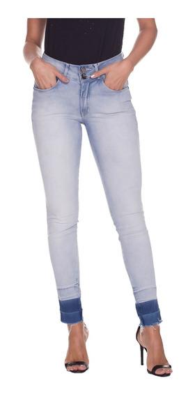 Calça Jeans Osmoze Mid Rise Skinny 23092 Un Azul