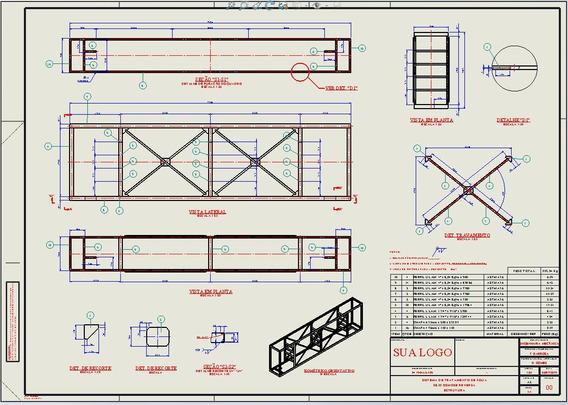 Templates Detalhamento Lista De Material Solidwororks 2019