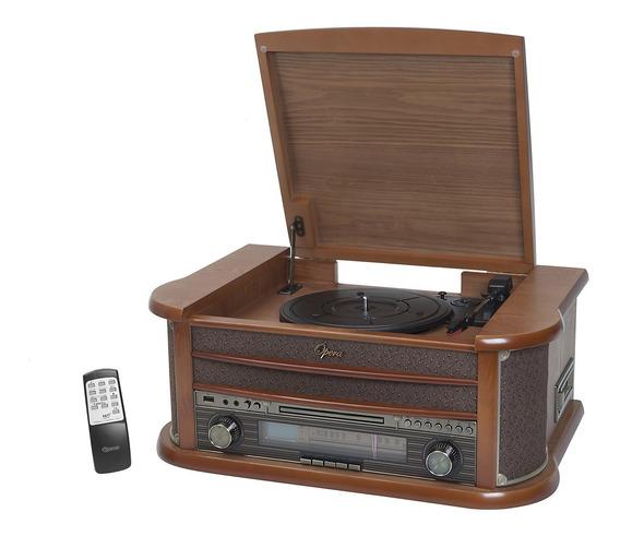 Vitrola Raveo Ópera Bt Cd Player Usb - Bluetooth Rádio Fm