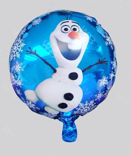 Imagen 1 de 1 de Paquete 5 Globos Frozen Olaf 18 Pulgadas Congelados Fiesta