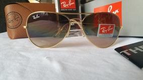 74ac7bc74 Óculos Ray Ban Aviador Marrom Degrade Tamanho 62 - Óculos no Mercado ...