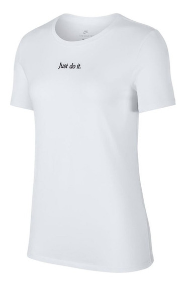 Remera Nike Just Do It Blanco Mujer