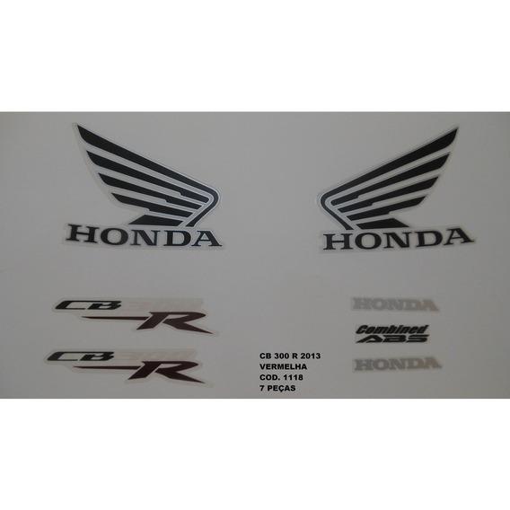 Faixa Adesivo Completo Honda Cb 300r Vermelho - 2013 - 13