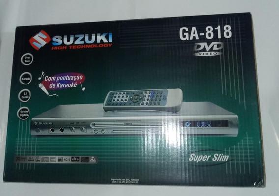 Dvd Player Suzuki Ga-818 Mp3 ( Sem Hdmi E Usb) Novo